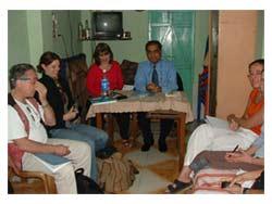 Subrata & Janet in Slum Clinic Class