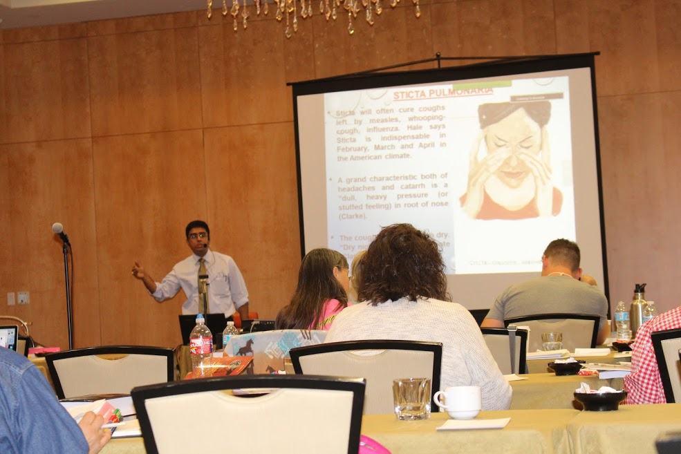 Dr.Saptarshi Banerjea discussing Comparative Materia Medica on Sinusitis
