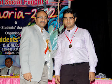 Saptarshi with Director of Homoeopathy, Govt. of West Bengal