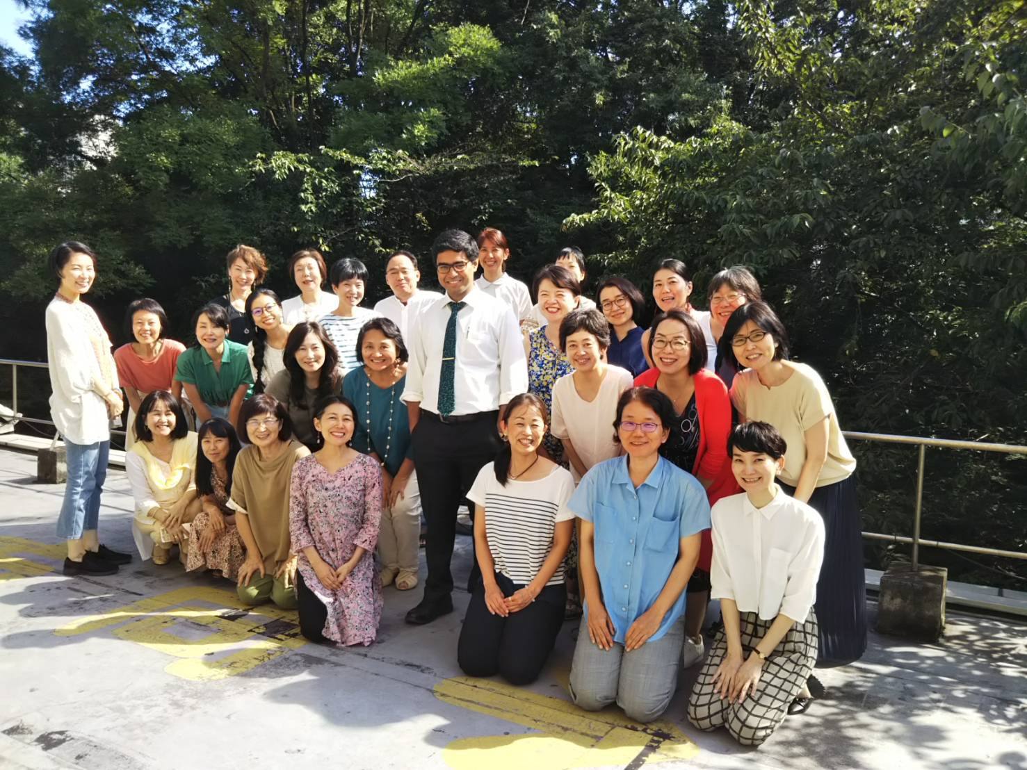 Dr.Banerjea with his students in Tokyo, Japan