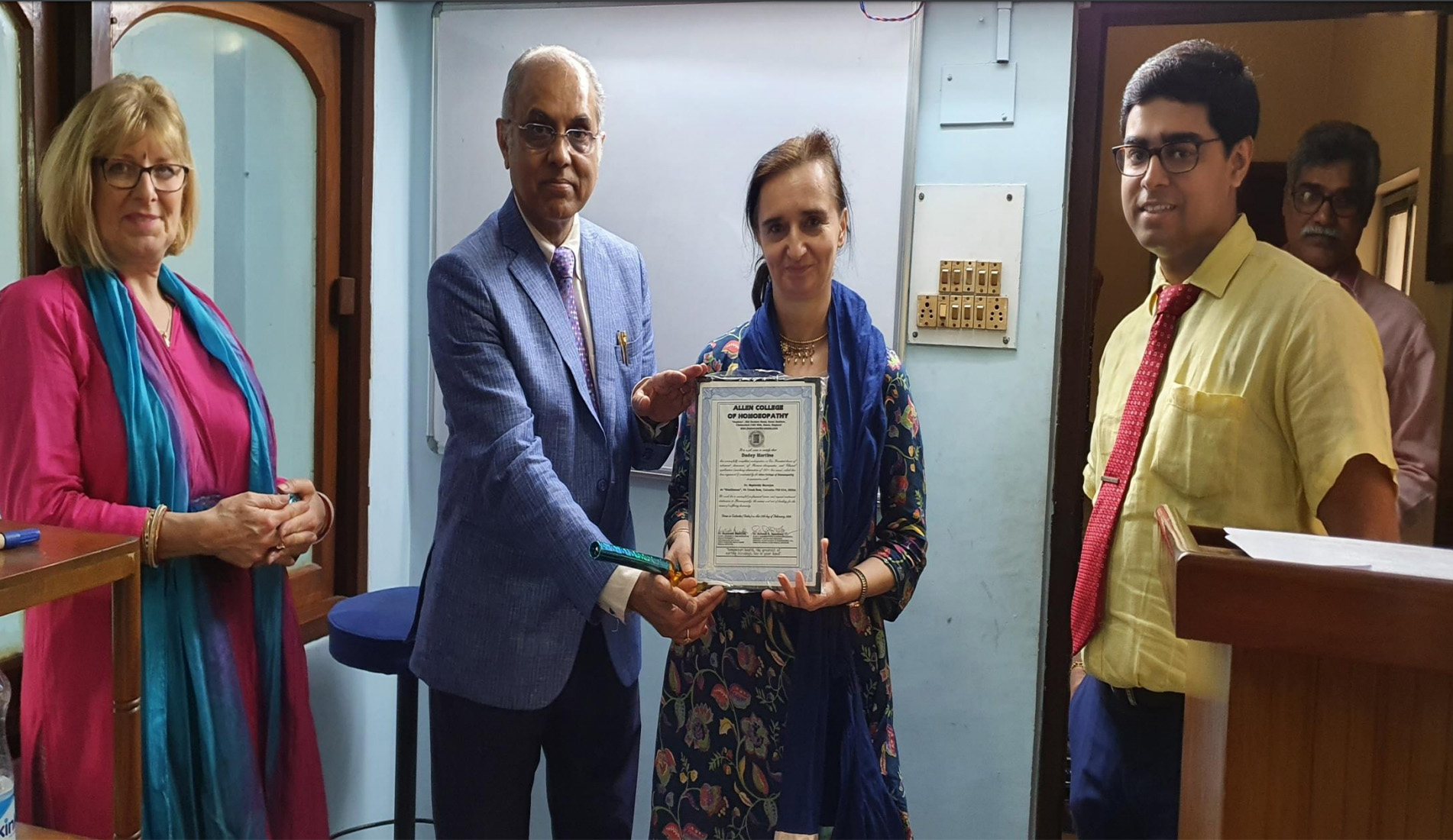 Martine from England, receiving her CPD Certificate