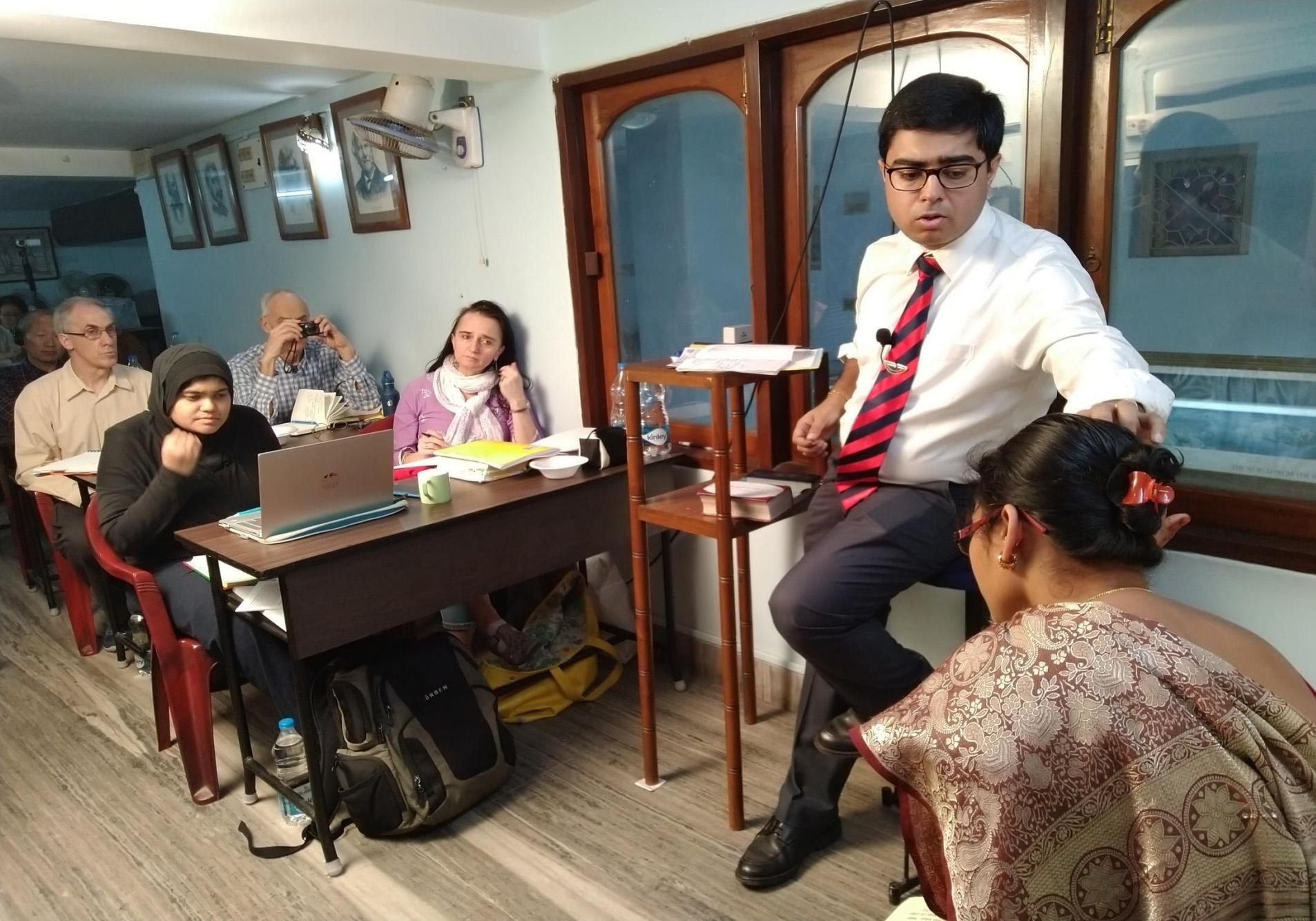 Dr. Saptarshi Banerjea with live case demonstration
