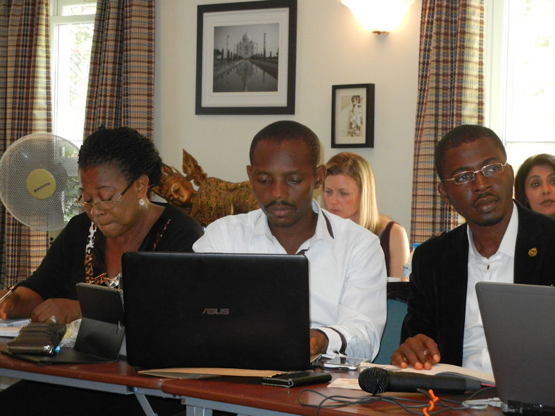 Group of participants from different parts of the world, e.g. USA, Canada, Belgium, Nigeria, Spain