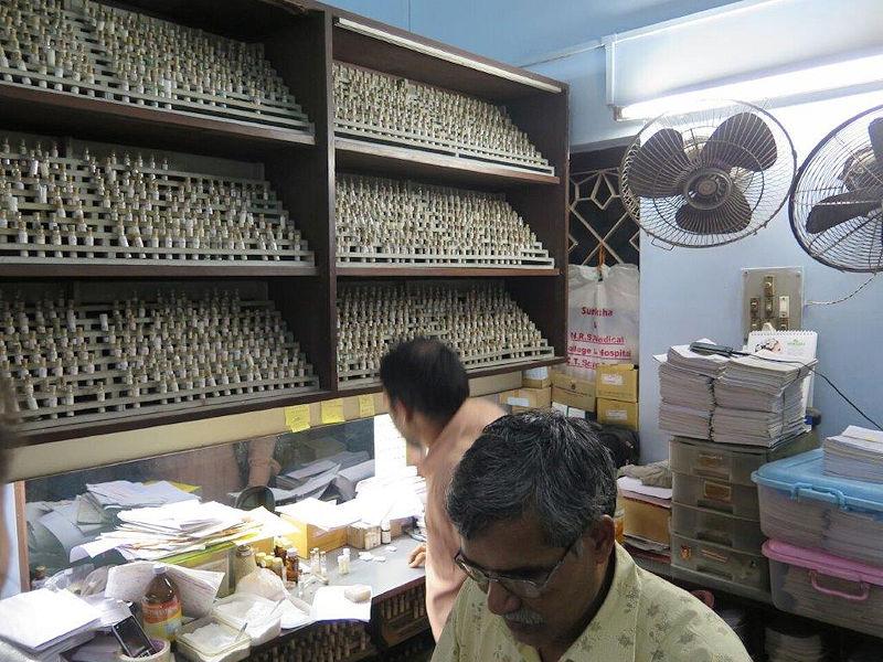 Dispensing room with dispensers -- Bengal Allen Medical Institute