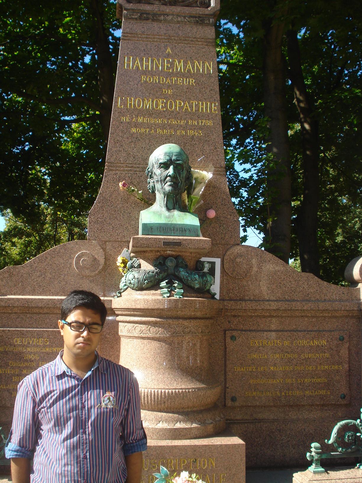Saptarshi in Hahnemann's Grave