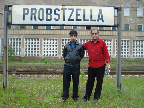 Subrata and Saptarshi in Probstzella (border town of East Germany).