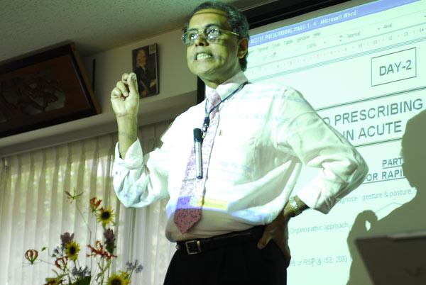 Dr. Banerjea's dynamic teaching in Tokyo.