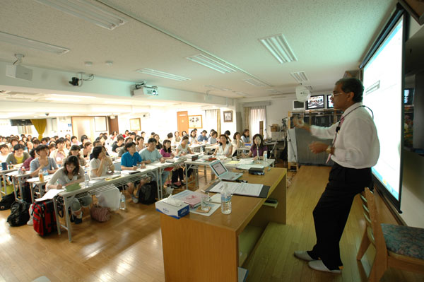 Dr. Banerjea with Japanese students in Tokyo Lecture series 2006.