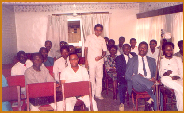 Dr. Banerjea with his Nigerian students