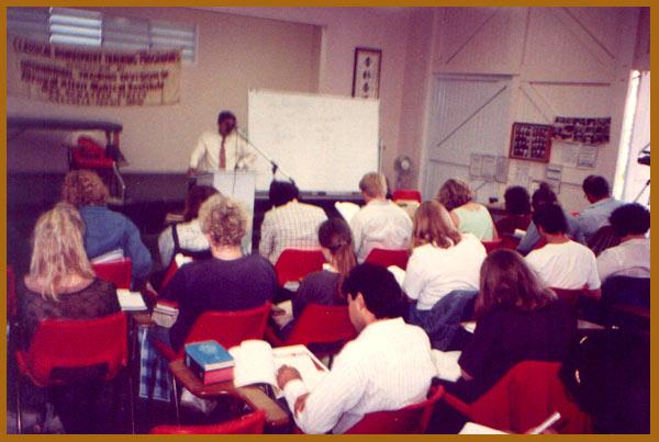 Lecturing in Melbourne, Australia, 1992