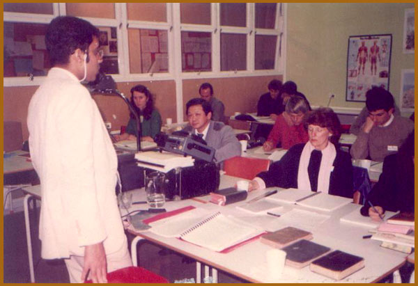 Lecturing in Milan, Italy, 1992