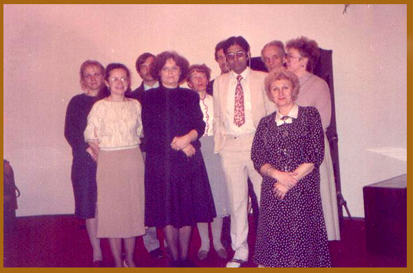 Dr. Banerjea with his Russian students in Kiev, 1990