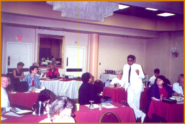 Lecturing in Boston, U.S.A.,1990
