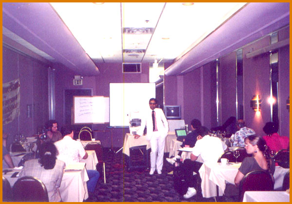 Lecturing in Dallas, Texas, U.S.A.,1990