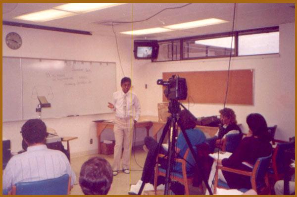 Lecturing in Philadelphia, U.S.A.,1988