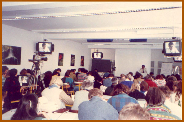 Lecturing in New York, U.S.A., 1996