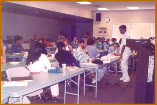 Lecturing in New York city, U.S.A., 1994