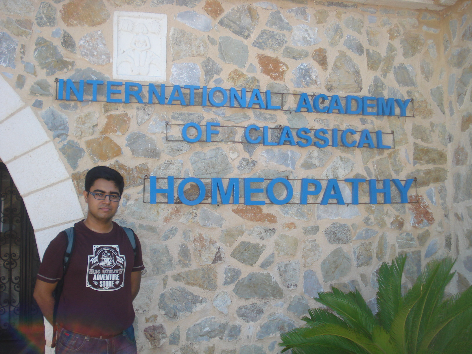 Dr.Saptarshi at the International Academy of Classical Homeopathy in the summer of 2013.