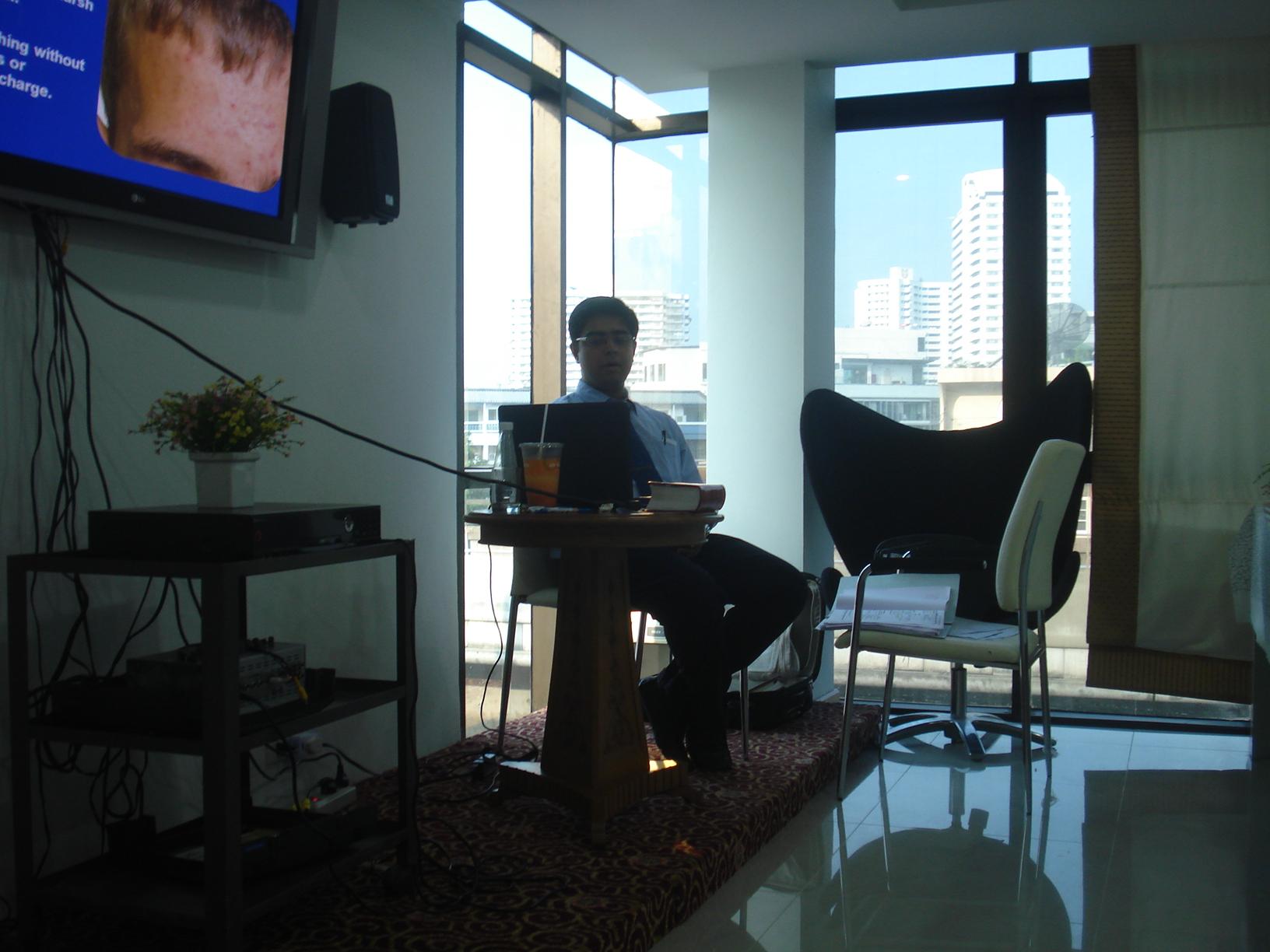 Dr.Saptarshi at Dr.Orawan's academy in Thailand.