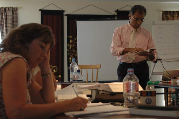 Dr.Subrata Banerjea lecturing at Summer conference.
