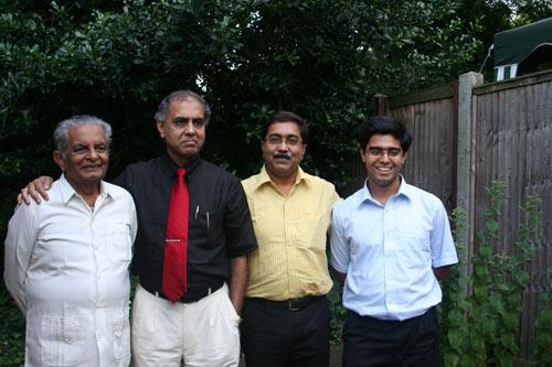 Dr. Ranjit Kumar Banerjee (Subrata's Dad), Dr. Subrata K. Banerjea, Mr.Sanjoy Banerjee (Subrata's Br